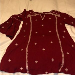 Red Umgee Embroidered Dress